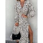 Estee Brown Jurk – Leopard – ecru