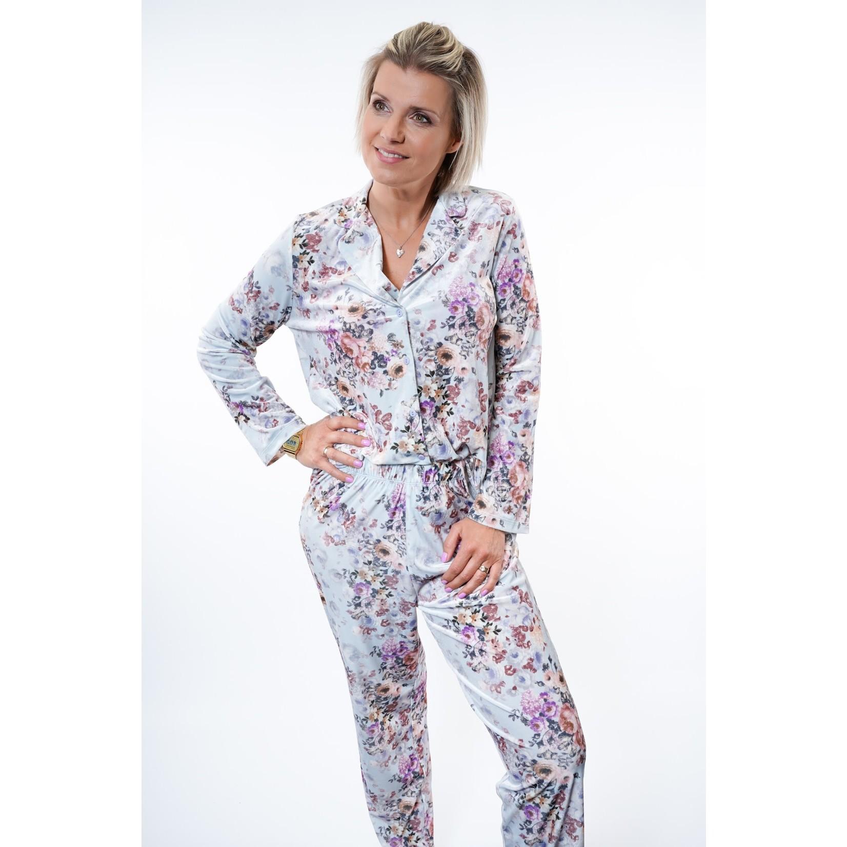 Yentl K Pyjama long velours 1-1