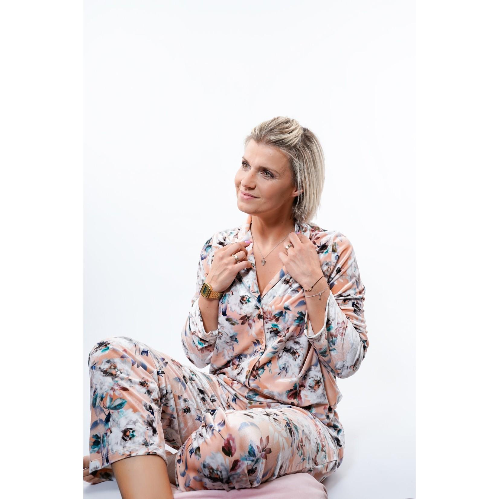 Yentl K Pyjama long velours 1-2