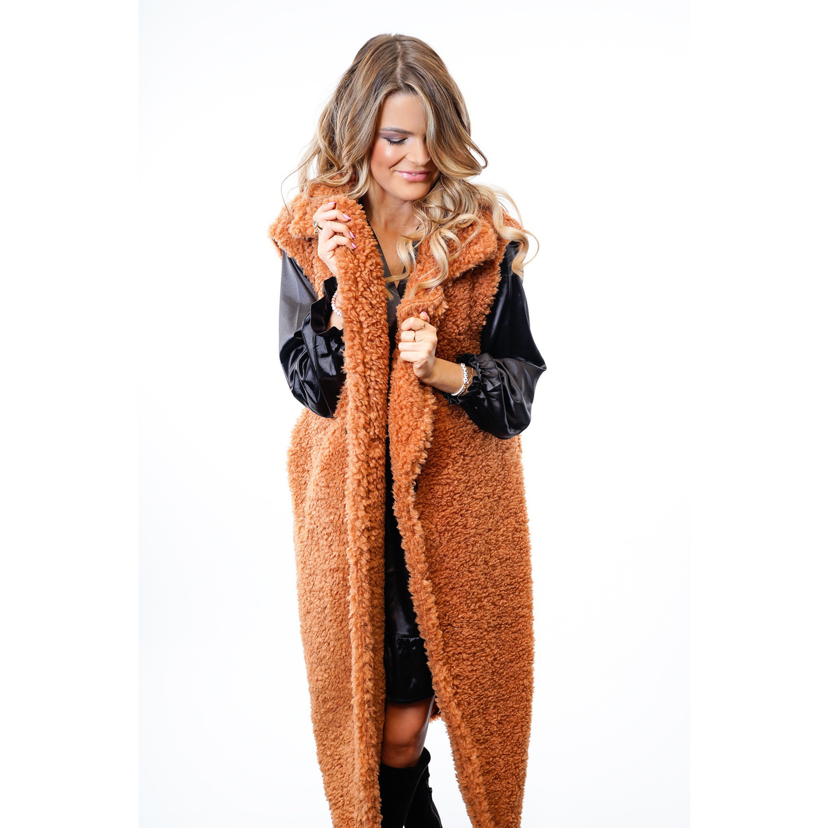 Yentl K Teddy Coat Sleevless 40