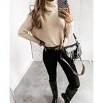 Cherry Koko Sweater with gold button – Ecru