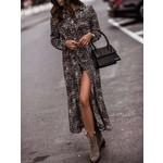 Estee Brown Jurk – Leopard Lang – Sapin