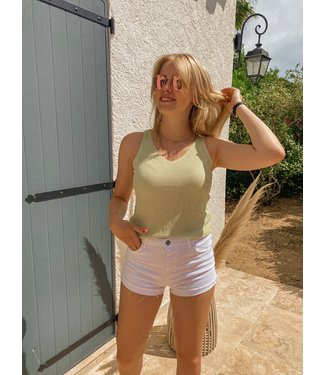 Sophie Glitter Top - Yellow