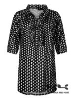Chrissize Jess blouse ruffle Dot print