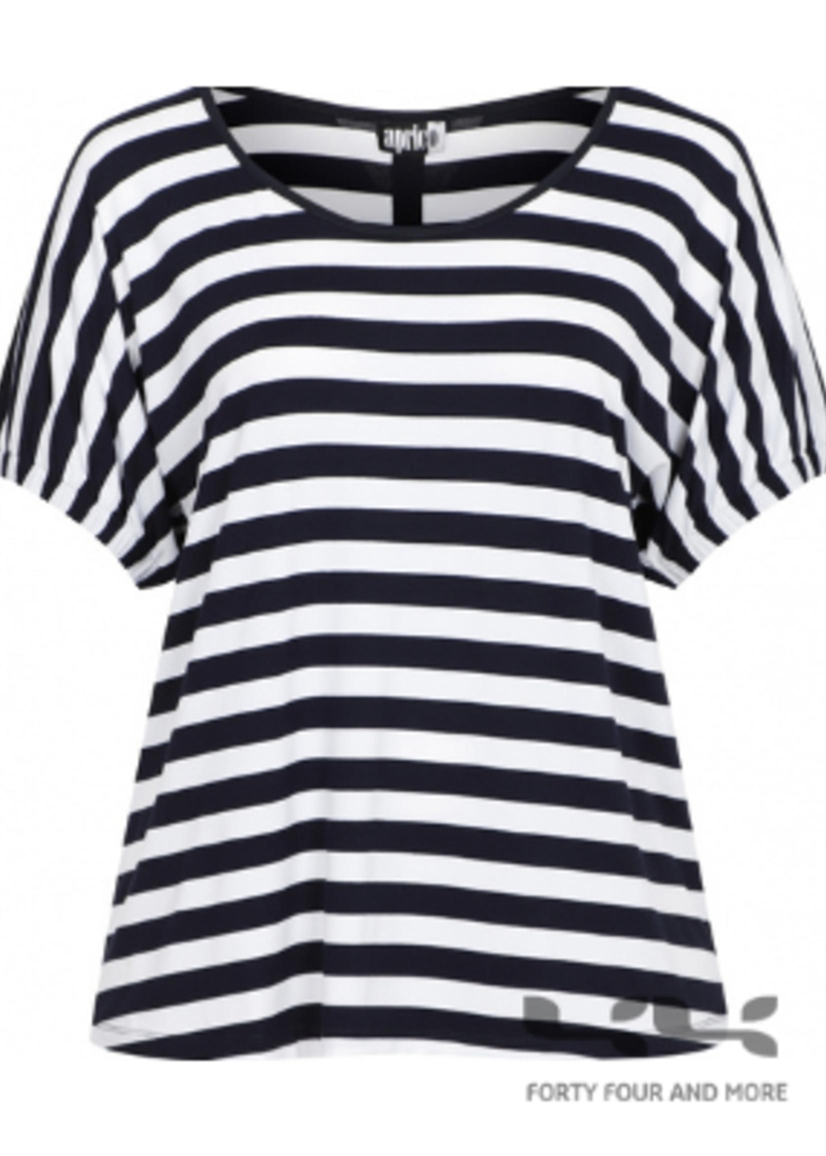 Aprico Shirt St Louis, blauw/wit streep kapmouw