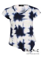 Doris Streich Shirt Batik print, asymmetrisch