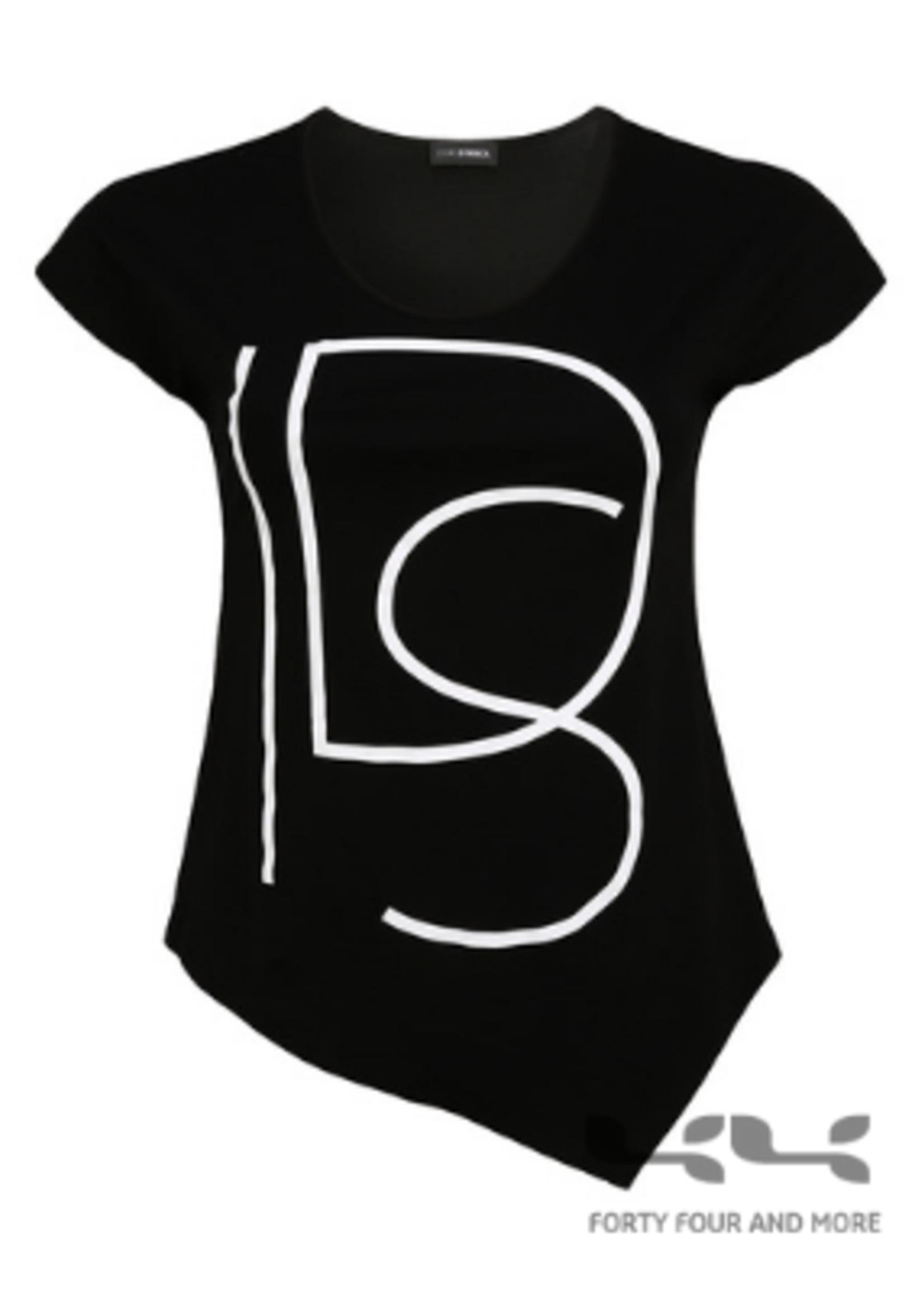 Doris Streich shirt  met DS-opdruk, a-symmetrisch