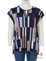 Frapp shirt, aangeknipte  mouw, splitje (2102 251)
