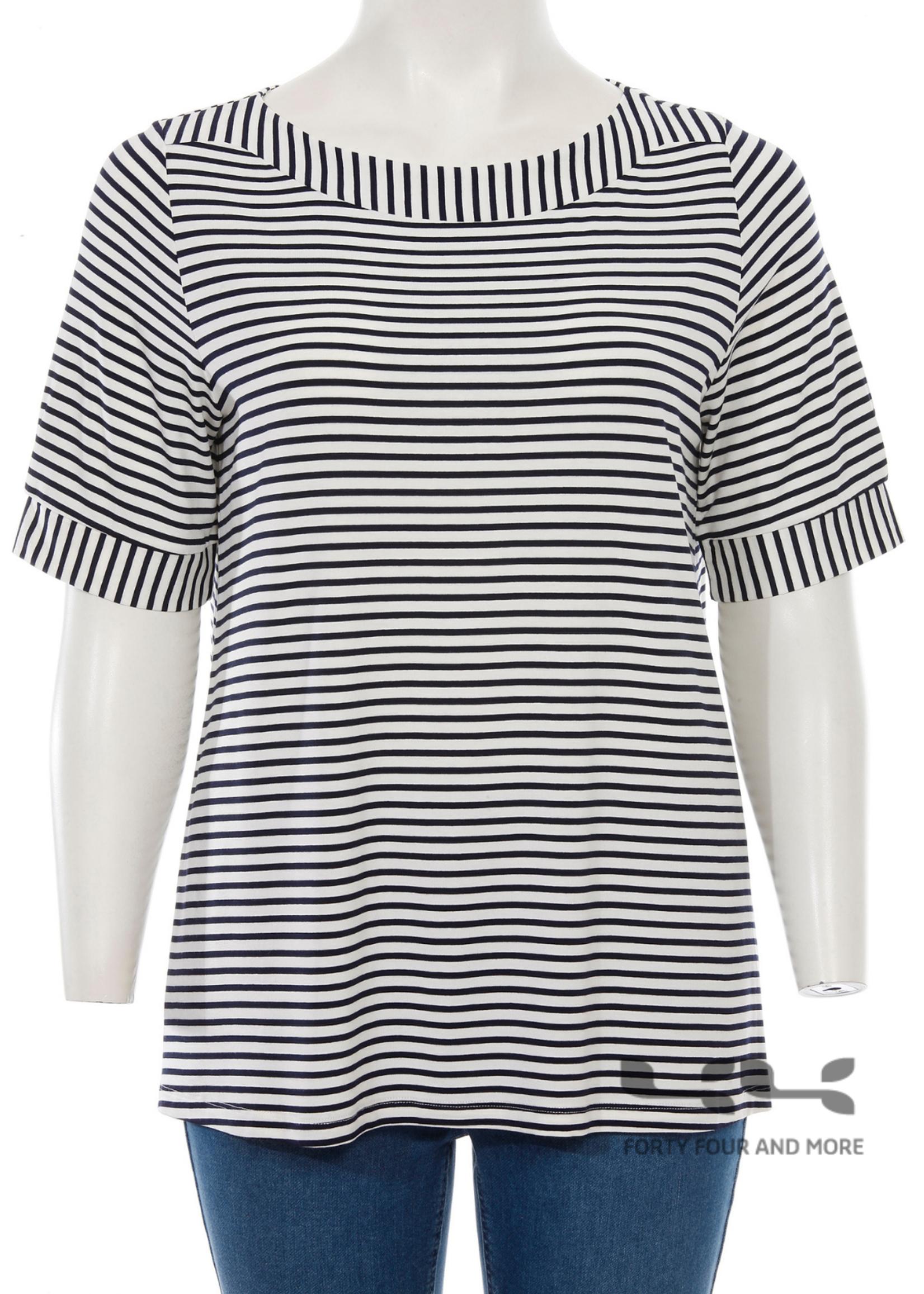 Via Appia Shirt, nautische streep,  boothals.