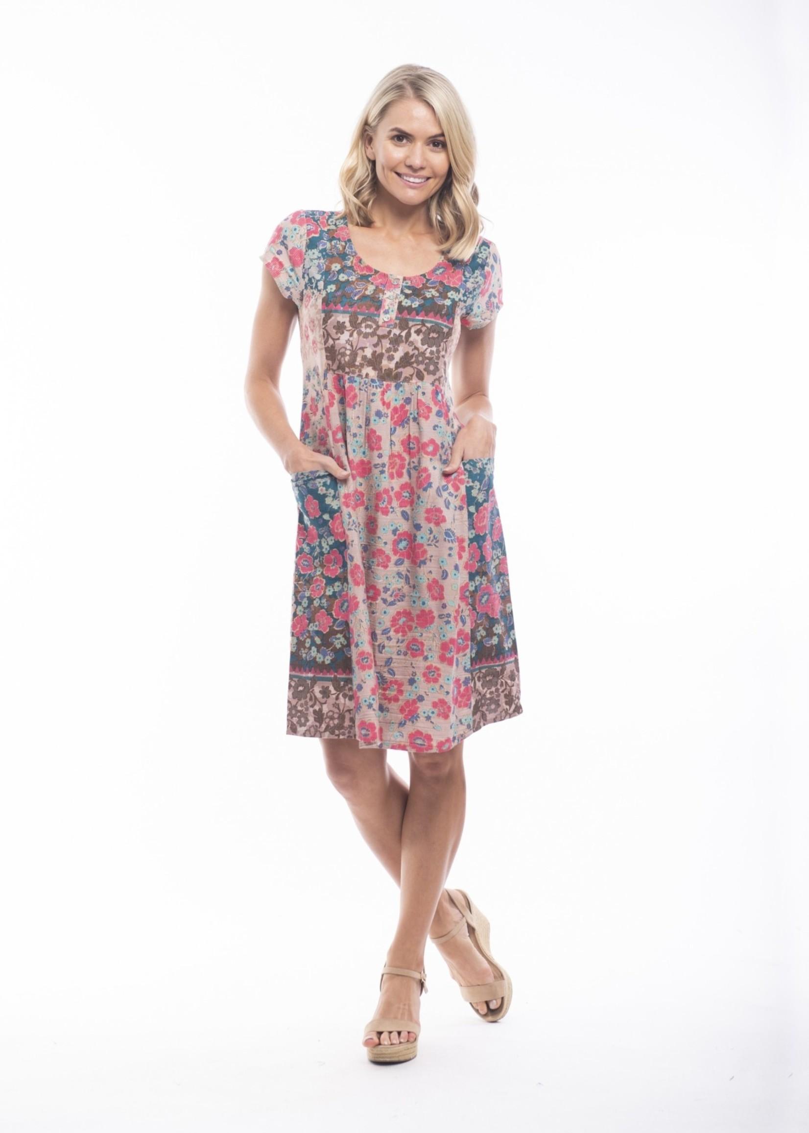 Orientique 51667 jurk Madrid  korte mouw