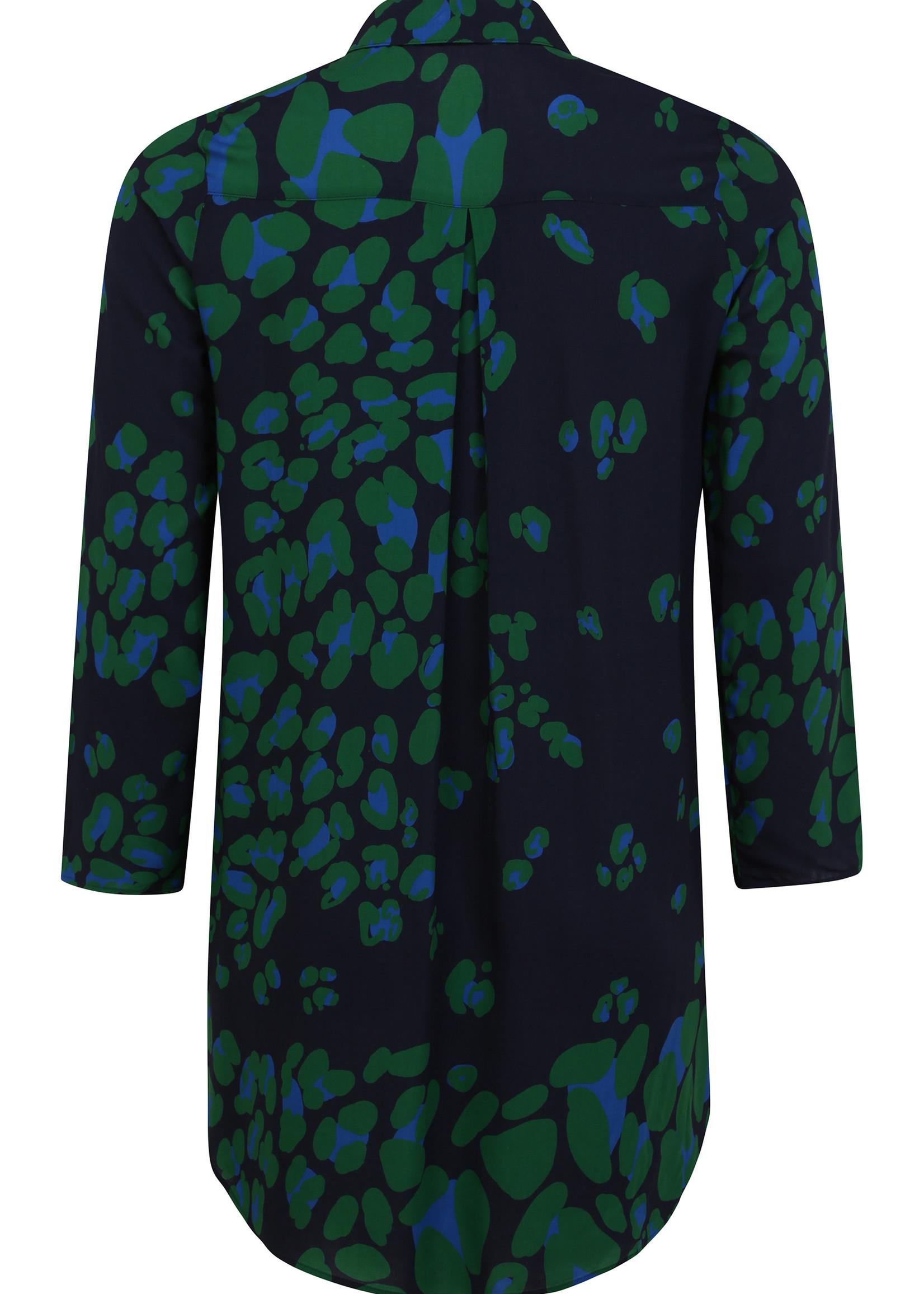 Doris Streich Lange blouse , subtiele panterprint