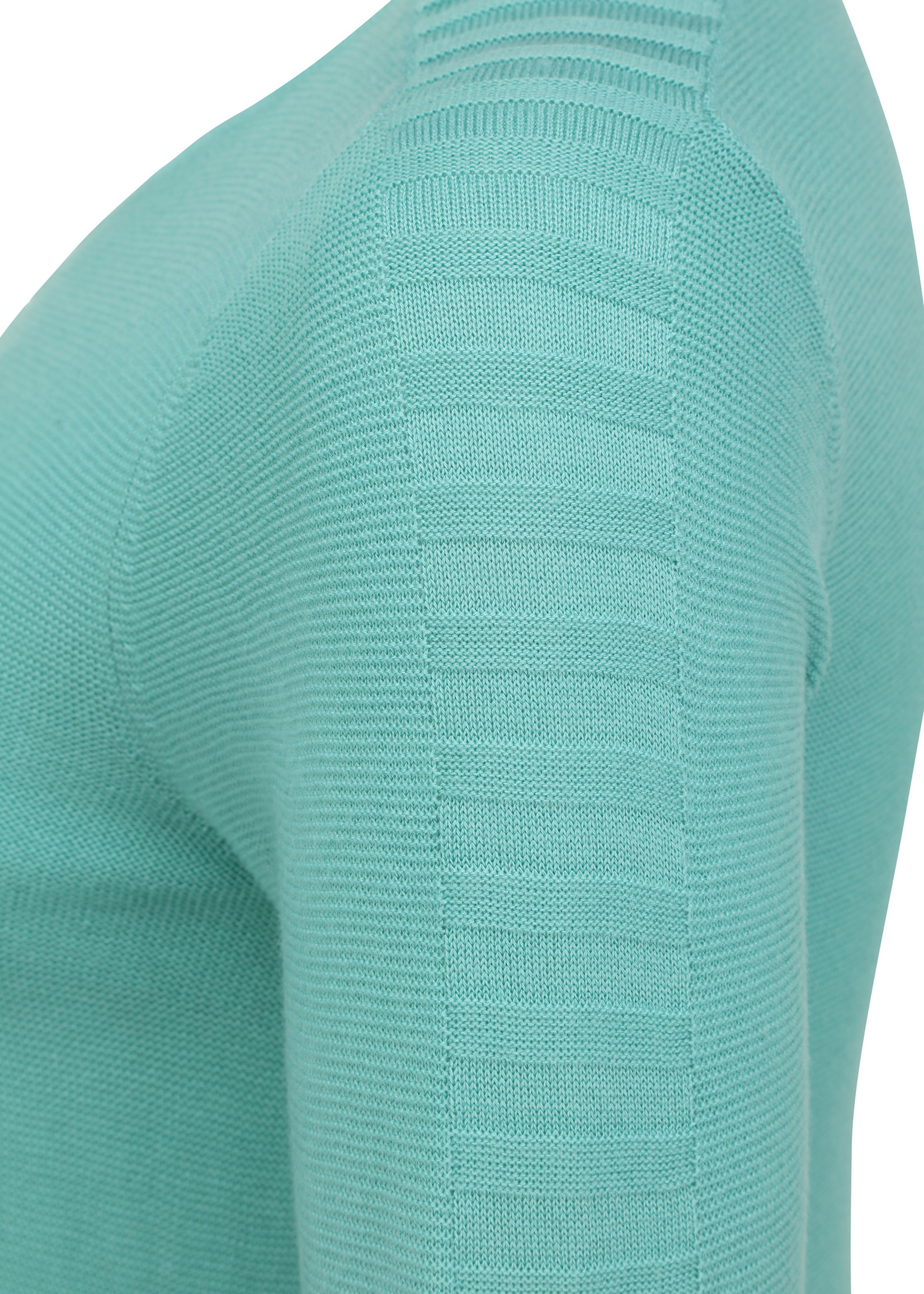 Doris Streich Pullover met ingebreid streepje mouw en voorpand