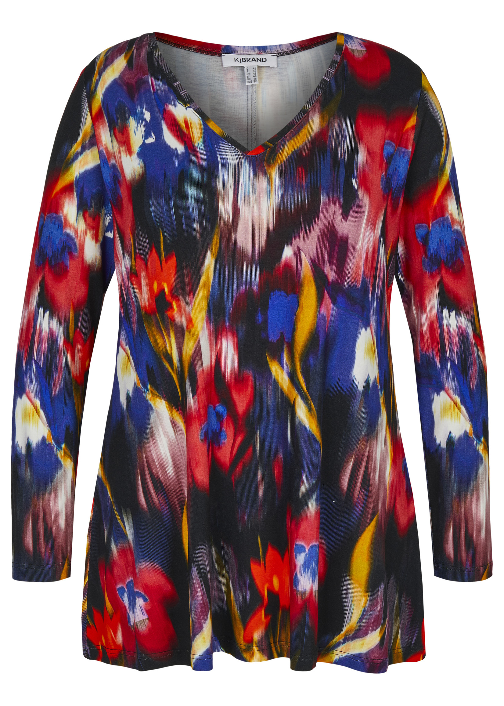 KJBrand Shirt V-hals, rode bloem
