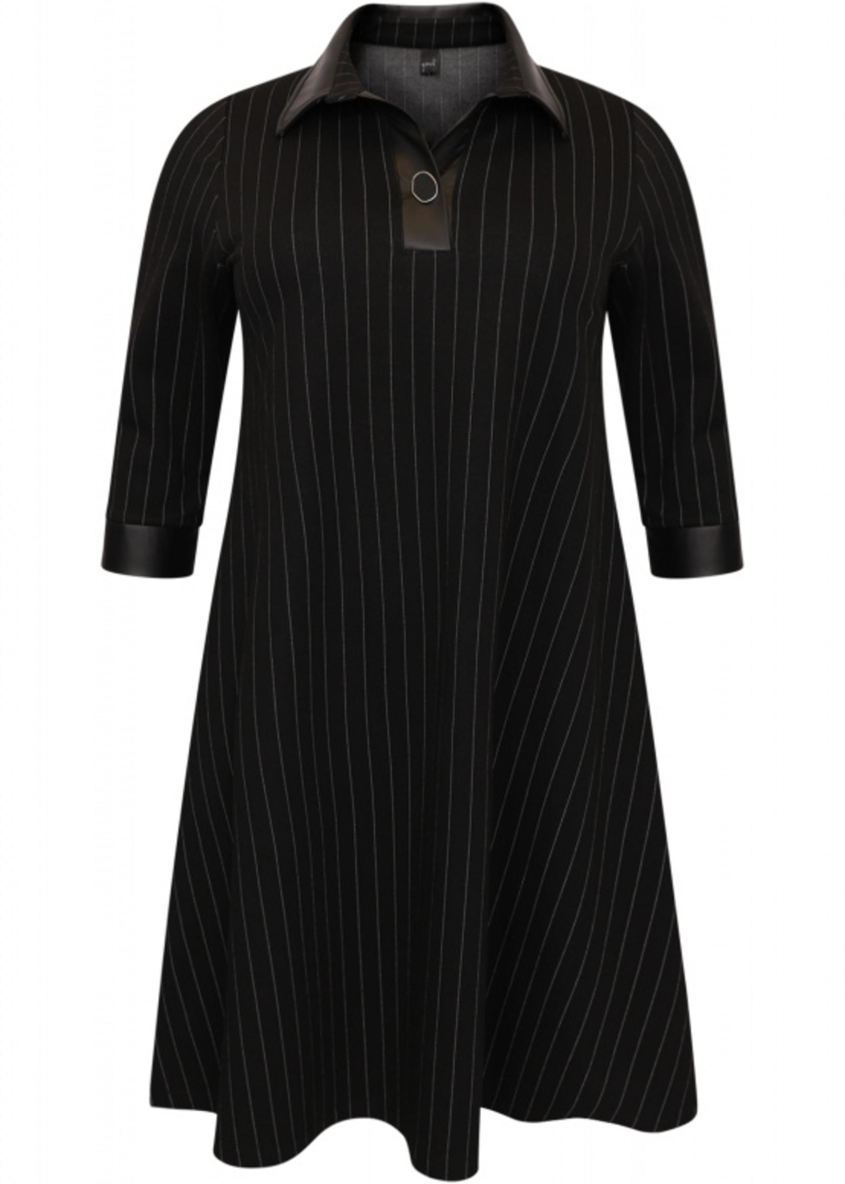 Yoek 9517765 jurk krijtstreep, A-lijn