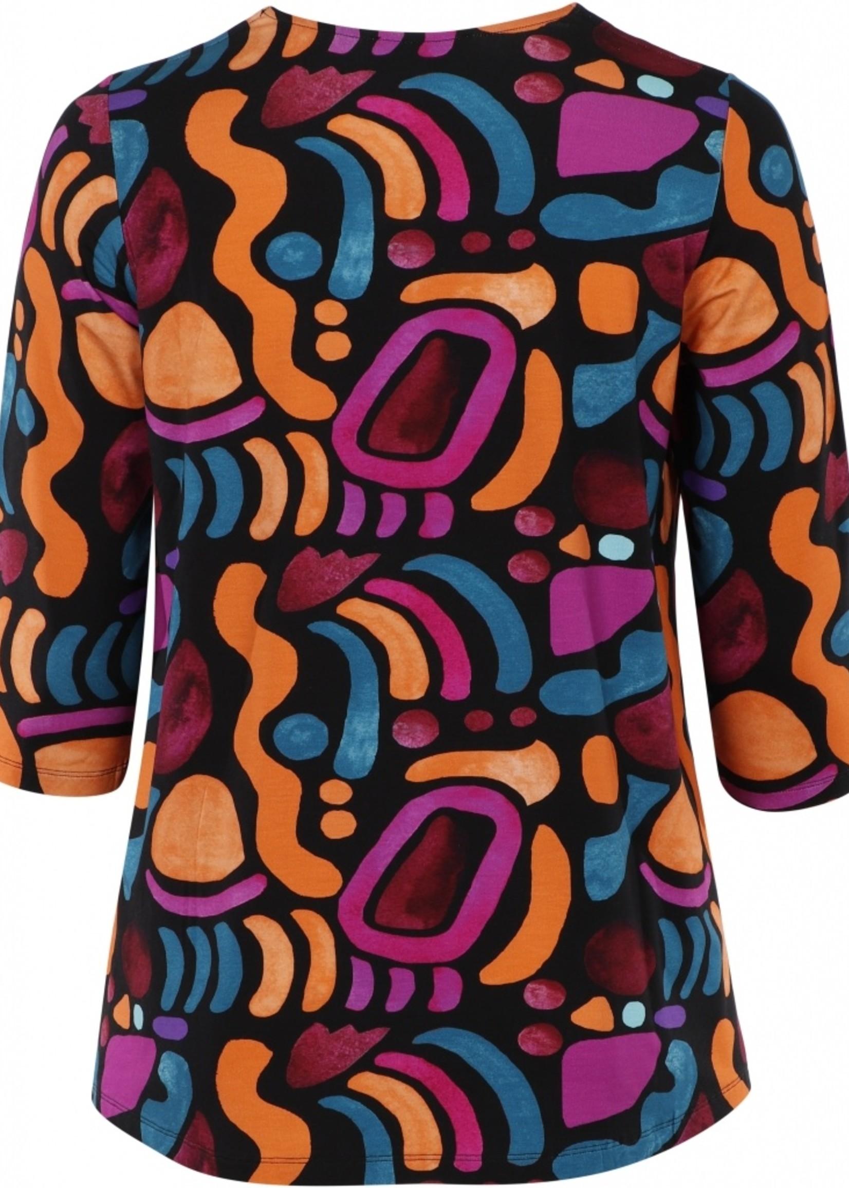 Sempre Piu Shirt Isobella banden langs hals (S8644 )