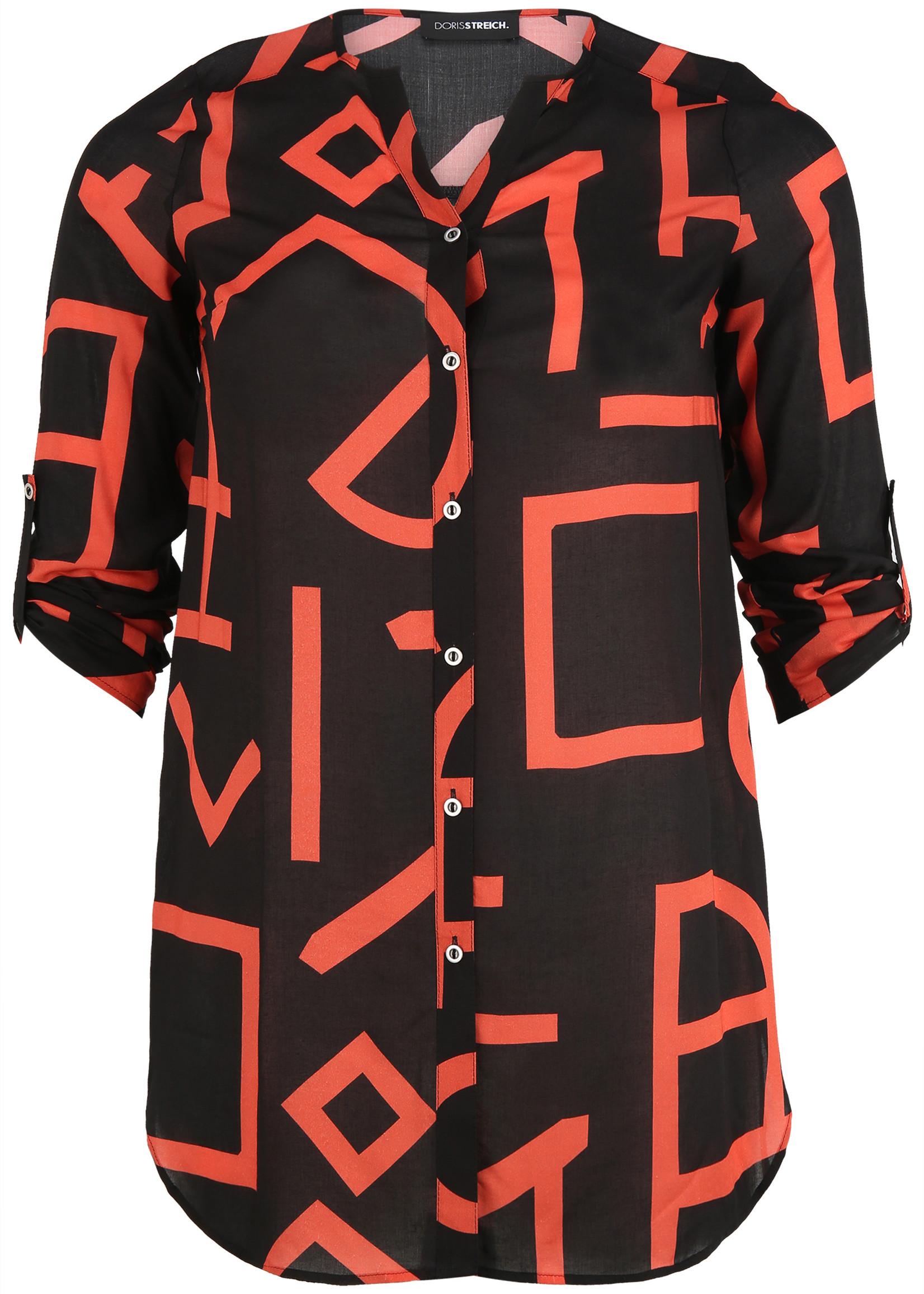 Doris Streich Doris Streich long blouse oranje letters (229880)