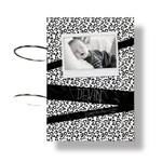 Fashion Kids NL Kaarten bundel panterprint tape zwart/wit