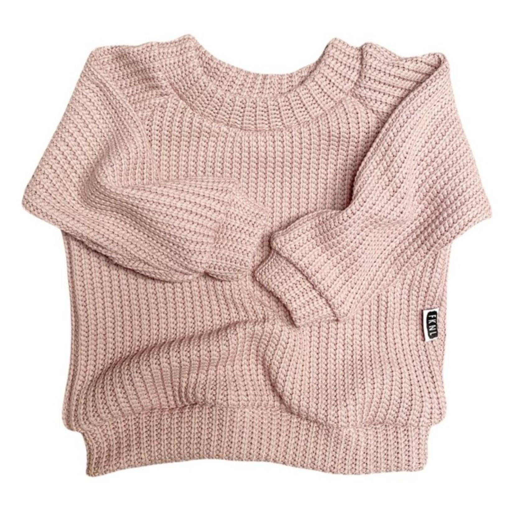 Fashion Kids NL Oversized sweater roze