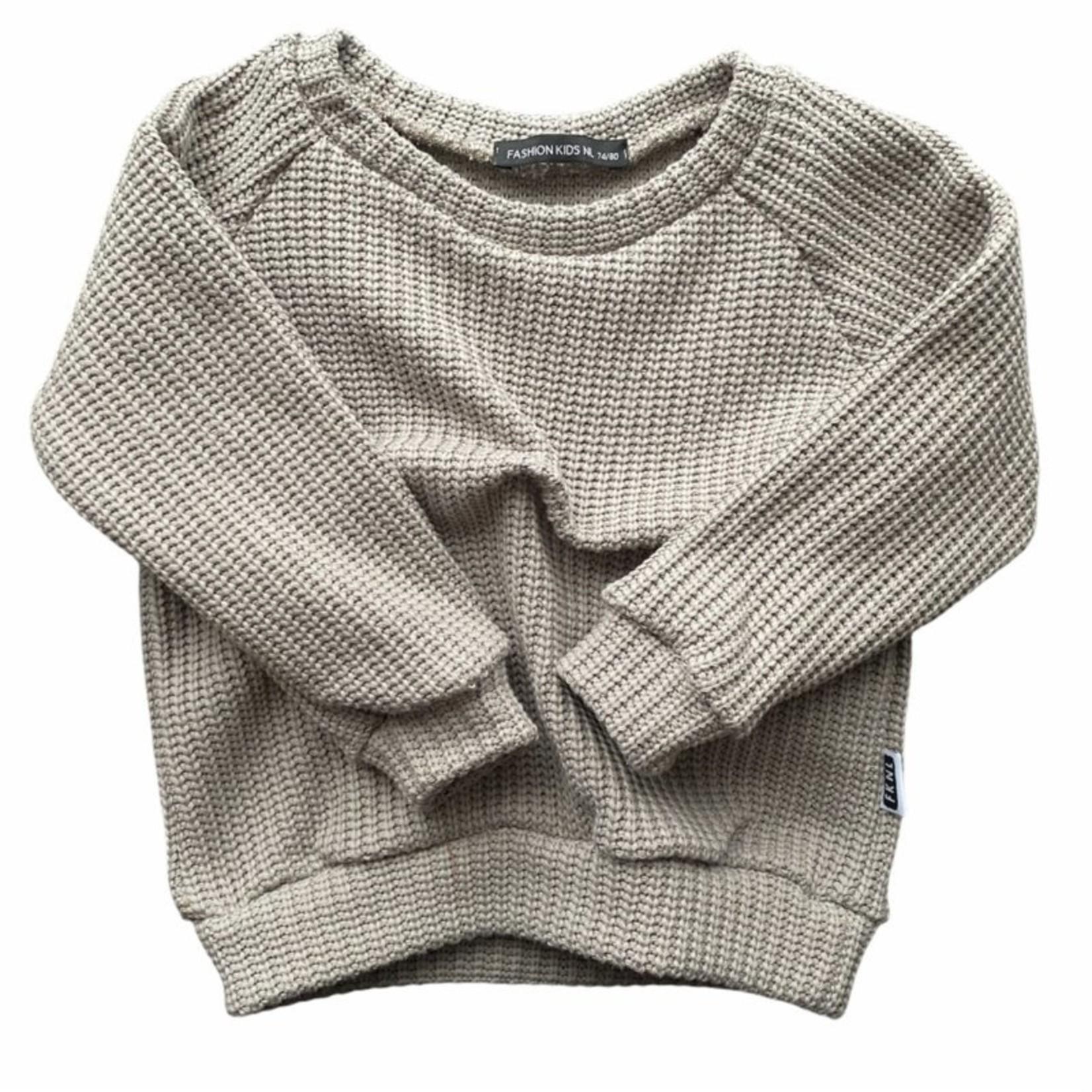 Fashion Kids NL Oversized sweater grijs