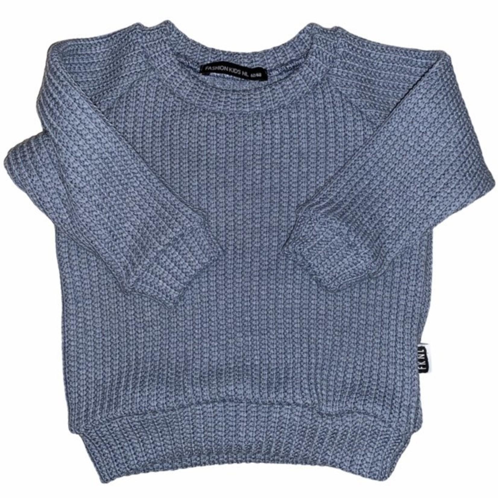 Fashion Kids NL Oversized sweater ocean blue
