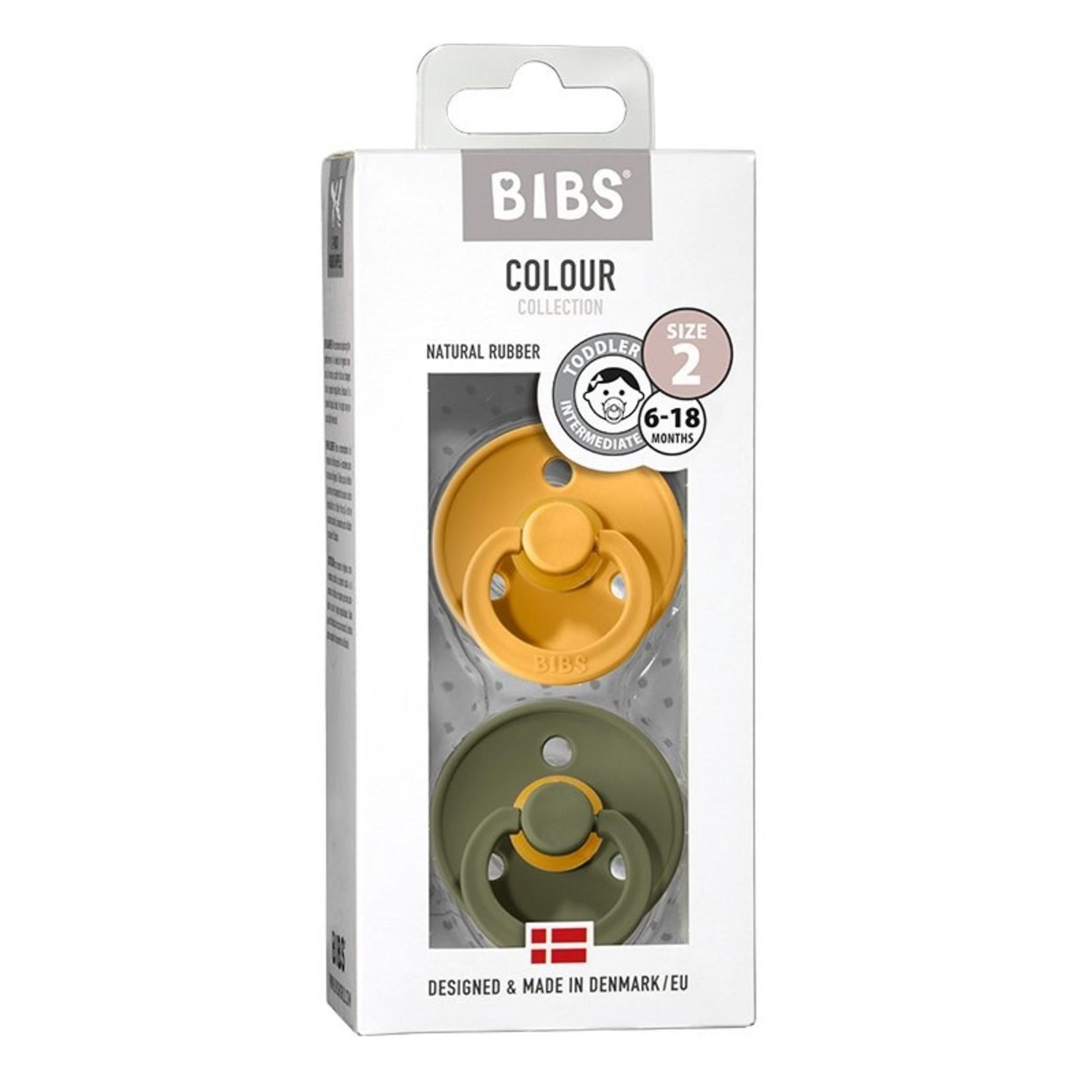 BIBS Bibs fopspenen natuurrubber blister Honeybee / Olive T2