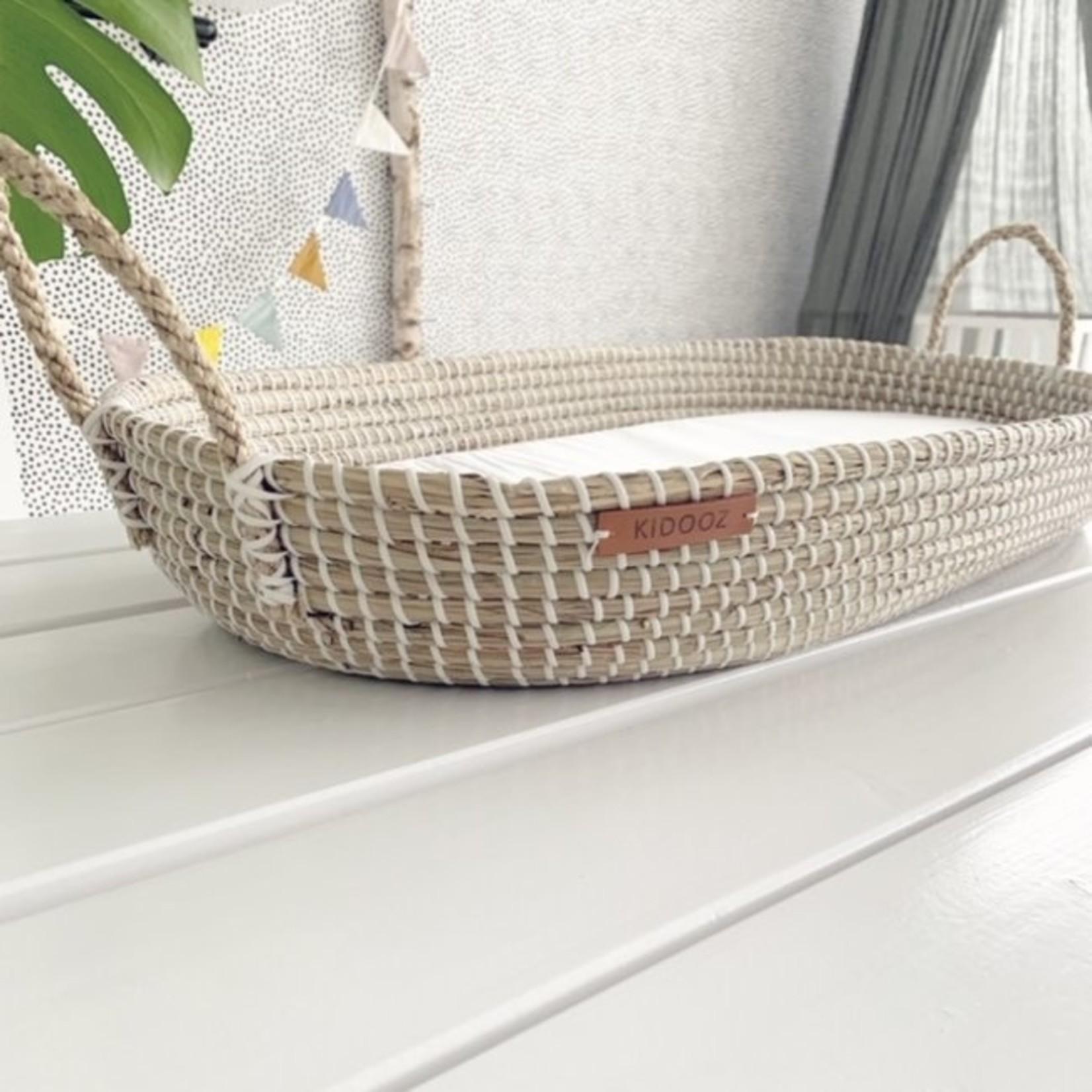 Kidooz Verschoonmandje zeegras inclusief matras