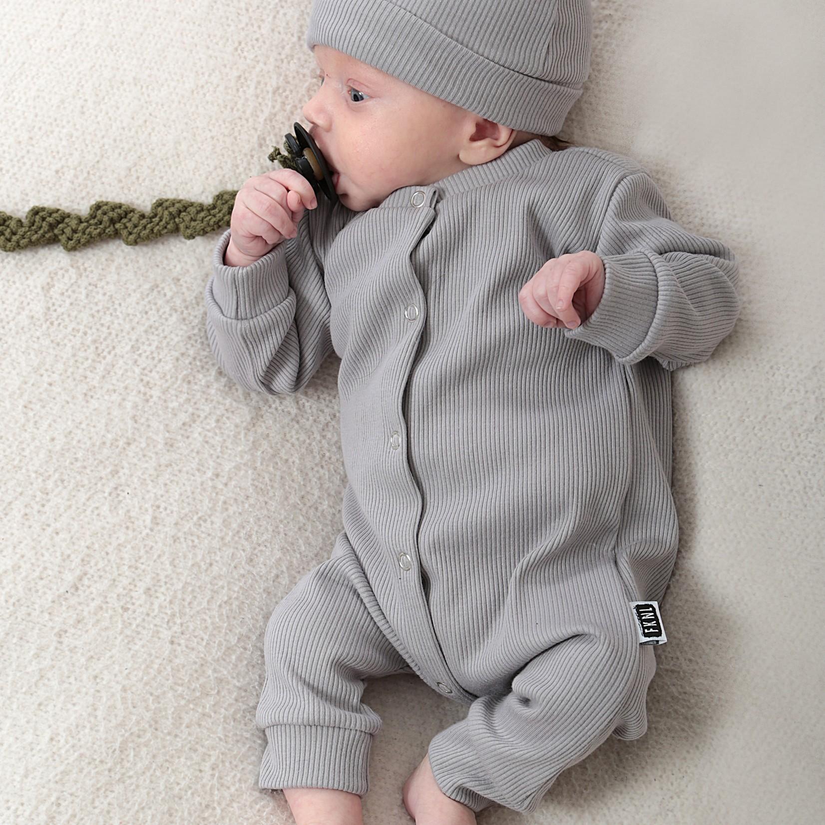 Fashion Kids  Babyrib boxpakje grijs