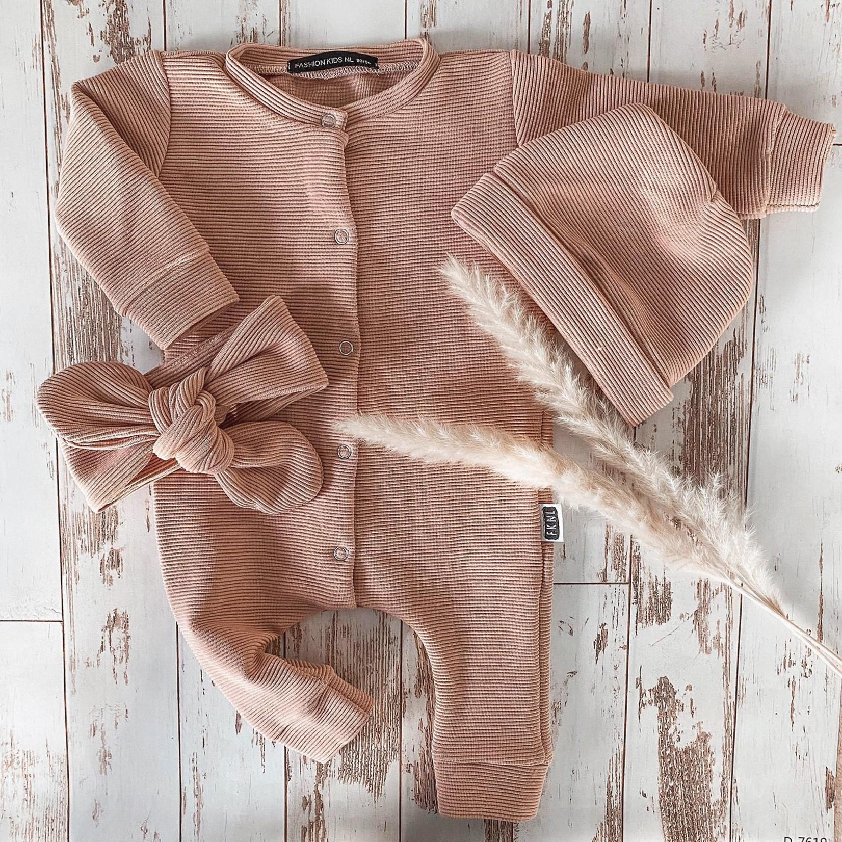 Fashion Kids  Babyrib boxpakje nude roze
