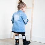 Fashion Kids  Custom Made Spijkerjasje   blauw