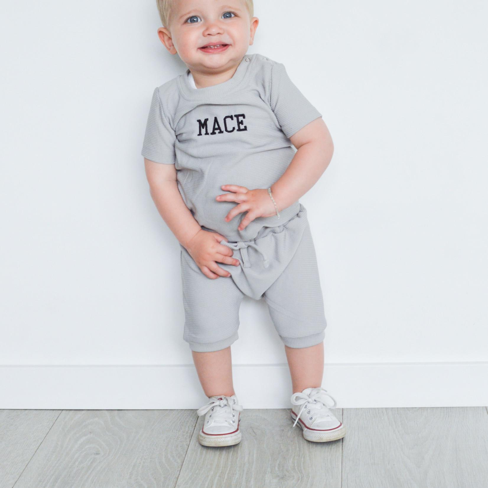 Fashion Kids  Rib set grijs