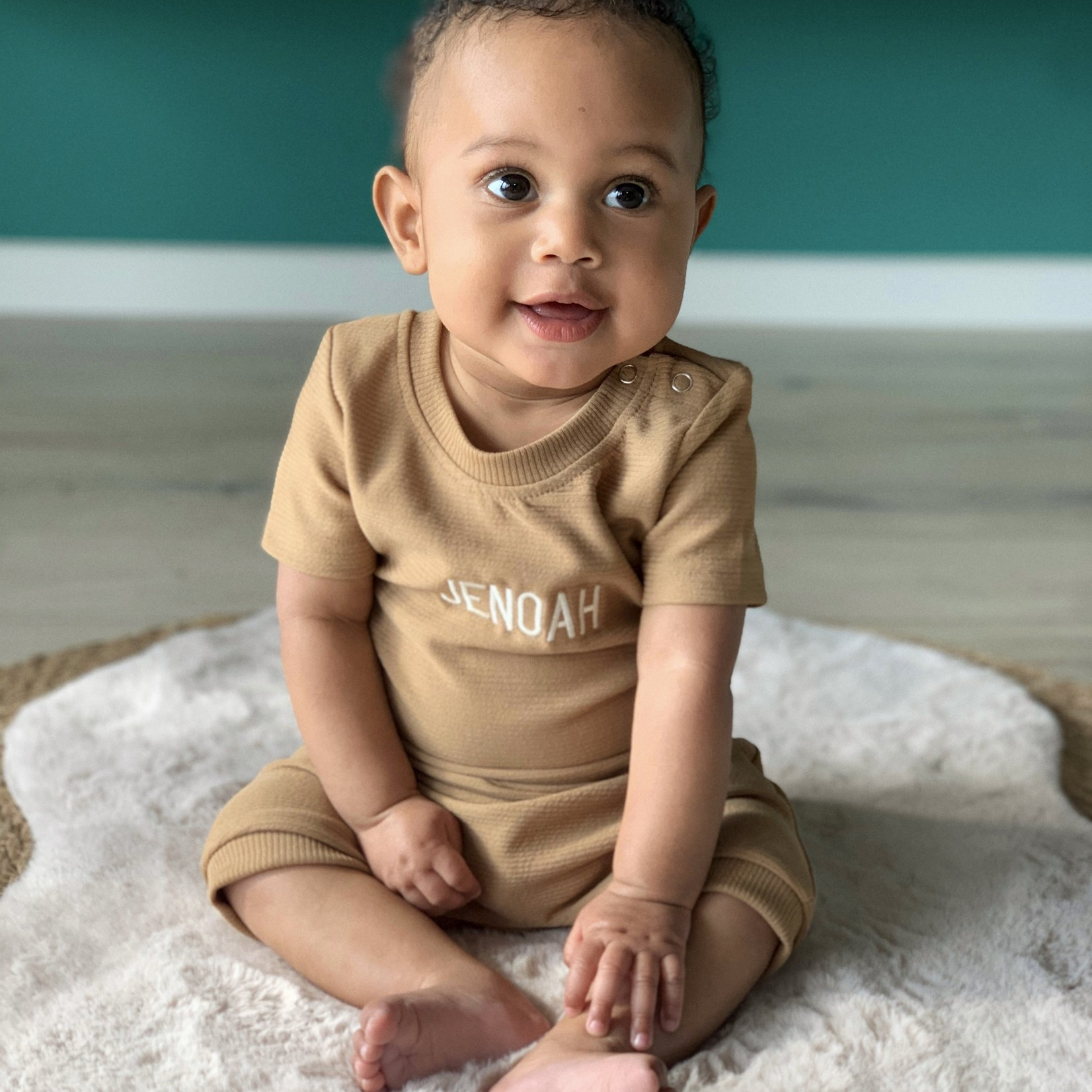 Fashion Kids  Rib set Brown