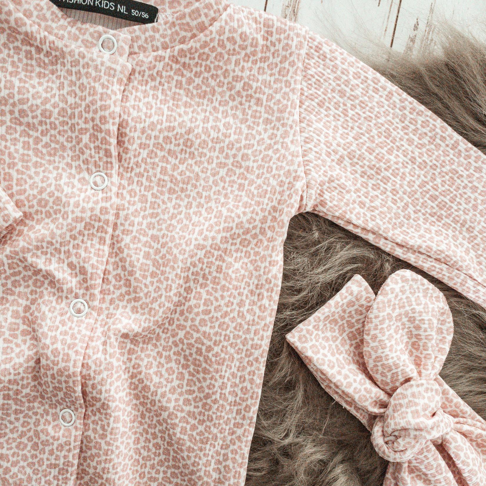 Fashion Kids  Rib boxpakje panterprint roze