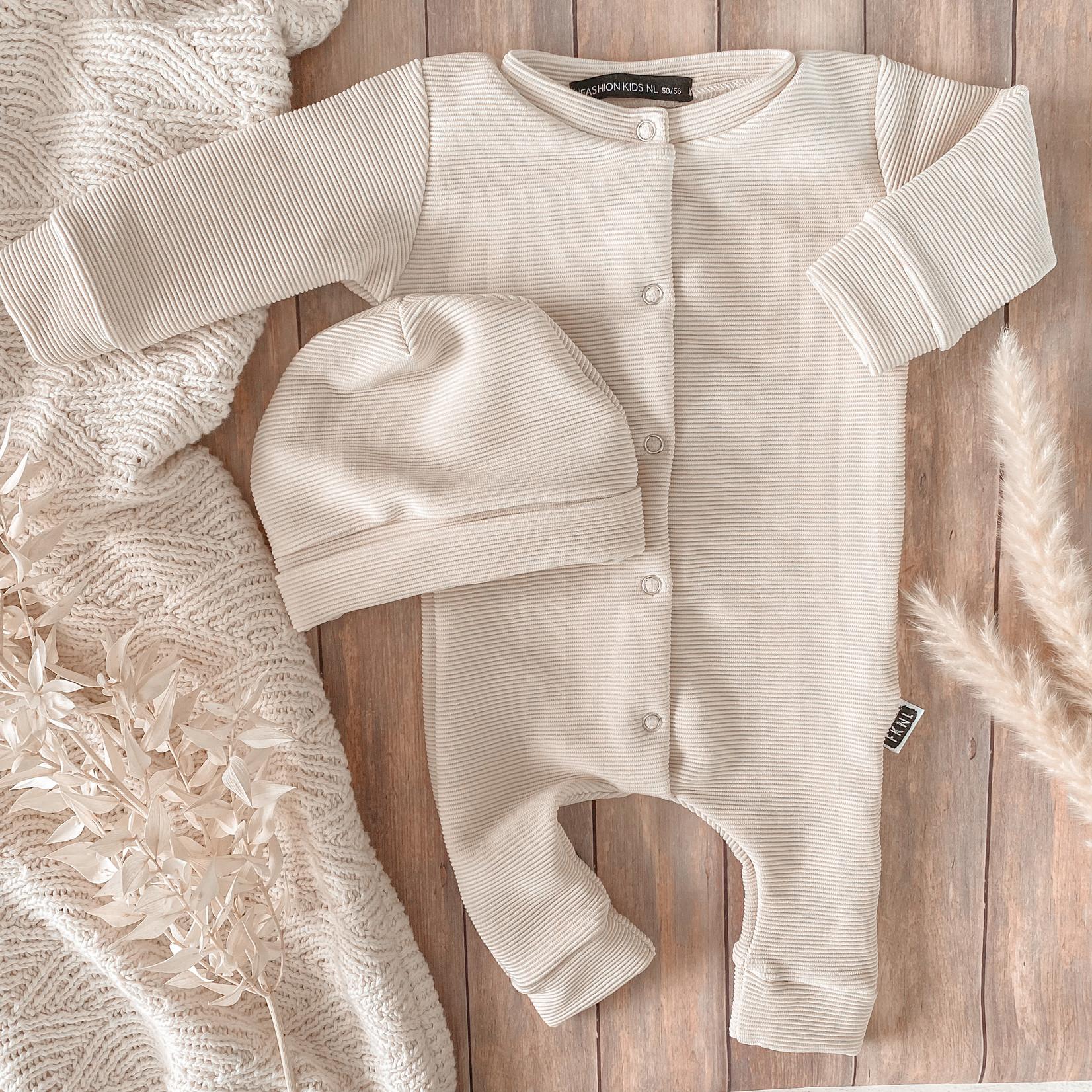 Fashion Kids  Babyrib boxpakje beige