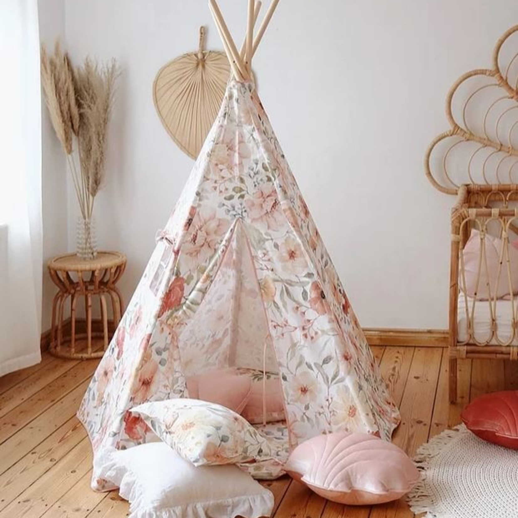 Moi Mili Classic Tipi tent Print-FLOWER POWER -Moi Mili