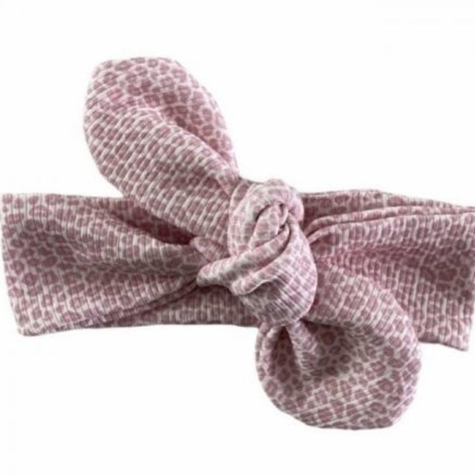 Fashion Kids   Haarband Rib Panter roze