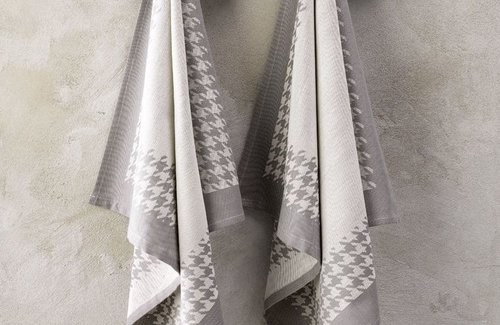 De Witte Lietaer Pied De Poule Grey (65x65cm) Theedoek