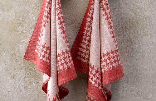 De Witte Lietaer Pied De Poule Red (65x65cm) Theedoek