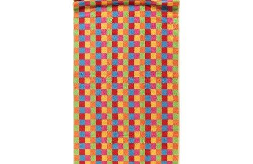 Cawö Life Style Karo Multicolor Yellow (70x180cm) Saunalaken