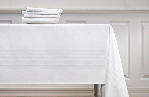 De Witte Lietaer Deauville Wit Tafelkleed