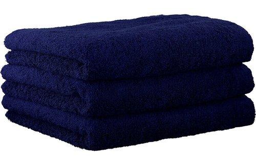 Cawö Lifestyle Uni Navy Handdoek