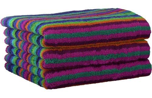Cawö Lifestyle Stripe Multicolor Blue Handdoek