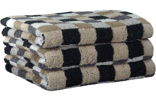 Cawö Lifestyle Karo Multicolor Pebble Handdoek