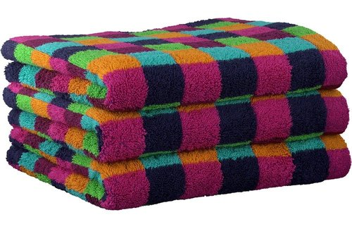 Cawö Lifestyle Karo Multicolor Blue Handdoek