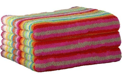 Cawö Lifestyle Stripe Multicolor Yellow Handdoek