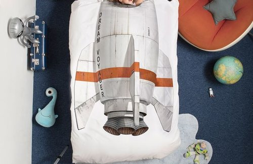SNURK Rocket Dekbedovertrek
