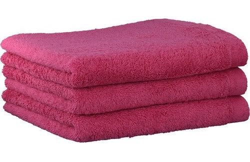 Cawö Lifestyle Uni Roze Handdoek