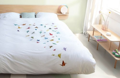 SNURK Crane Birds Dekbedovertrek