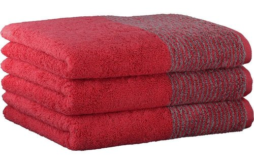 Cawö Two-Tone Red Handdoek