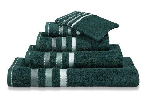 Vandyck Prestige Lines Dark Green Handdoek