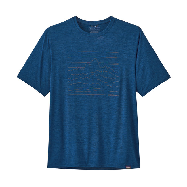 M's Capilene® Cool Daily Graphic Shirt - Superior Blue